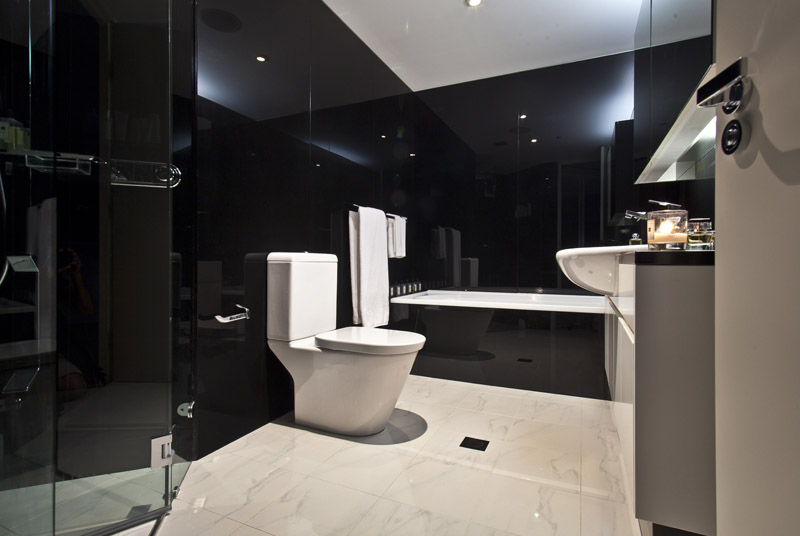 Black marble bathroom shoot - The Horizon  moore words &pictures ...