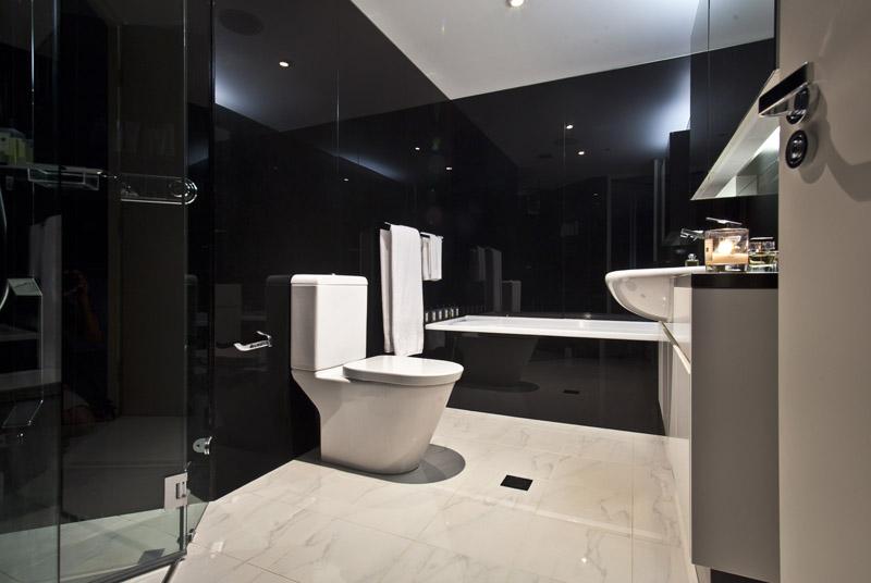 Black Marble Bathroom Shoot The Horizon Moore Words